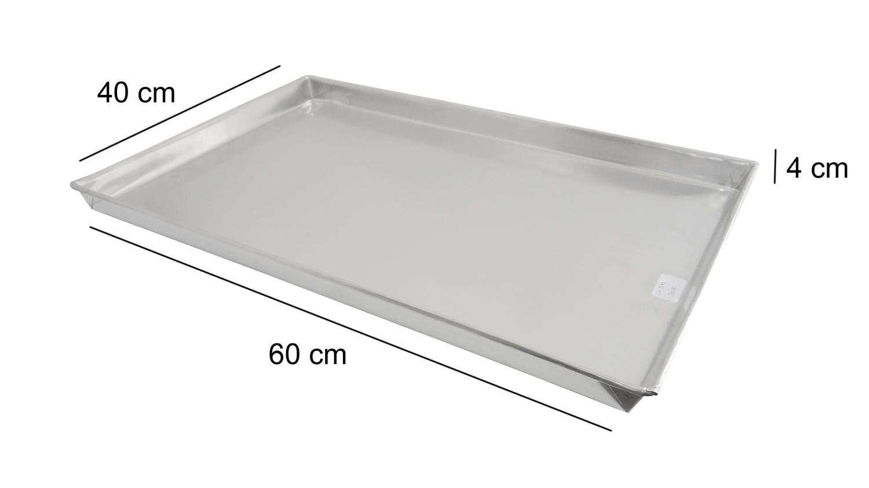 Assadeira Reta Para Pão Doce 60x40x4cm Alumínio Innal