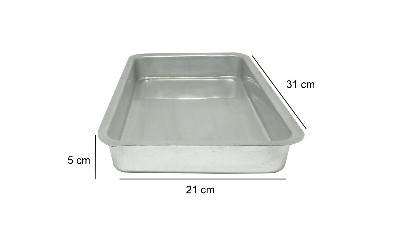 Assadeira Retangular de Alumínio Alta Nº1 Roldan