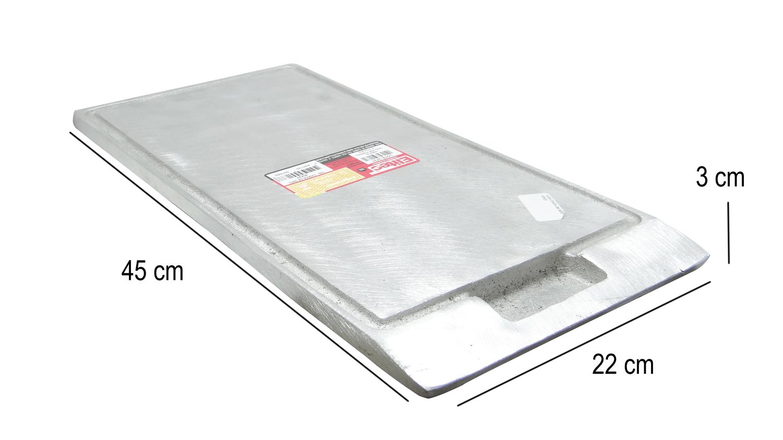 Chapa Bifeteira Em Alumínio Fundido 45x22cm Elitec