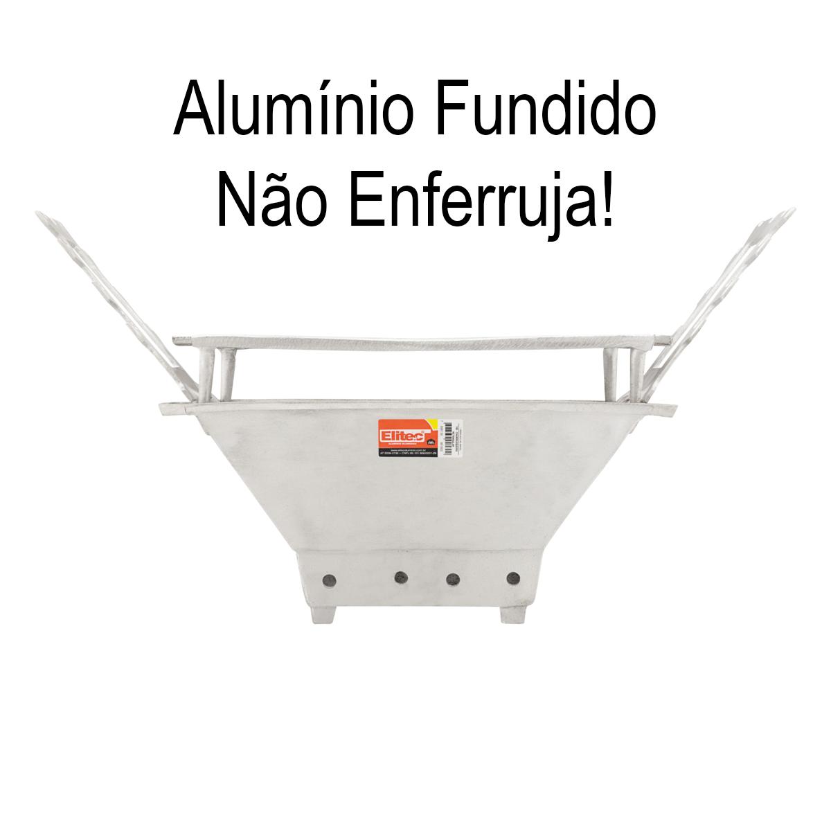 Churrasqueira Retangular Aluminio Fundido 45x32 Elitec