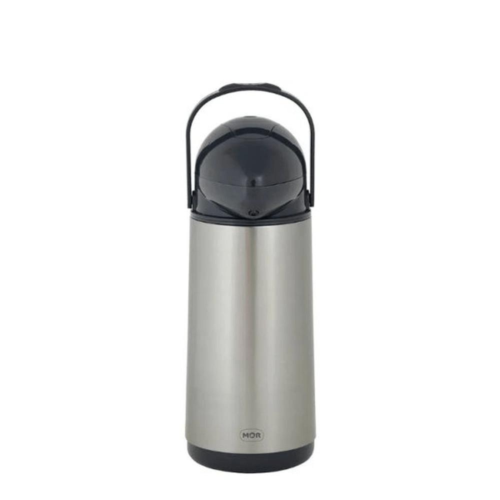 Garrafa Térmica Preta 1 Litro Inox Nobile Mor