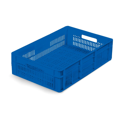Caixa Plástica Vazada Azul 14x39x60,5 cm MS16 Mercoplasa