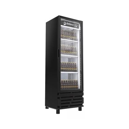 Cervejeira Imbera 450 L Porta de Vidro Preta CCV-315 110 V