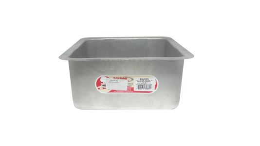 Forma Quadrada de Alumínio com Fundo Fixo 20x10cm Roldan