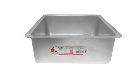 Forma Quadrada de Alumínio com Fundo Fixo 25x10cm Roldan