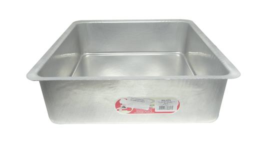 Forma Quadrada de Alumínio com Fundo Fixo 30x10cm Roldan