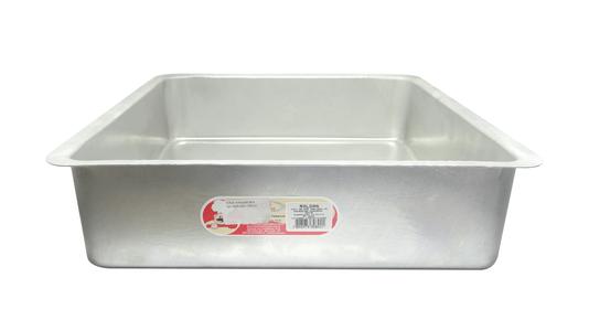 Forma Quadrada de Alumínio com Fundo Fixo 35x10cm Roldan