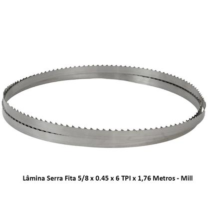 Lâmina Serra Fita 5/8 x 0.45 x 6 TPI x 1,76 Metros - Mill