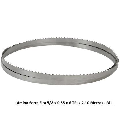 Lâmina Serra Fita 5/8 x 0.55 x 6 TPI x 2,10 Metros - Mill