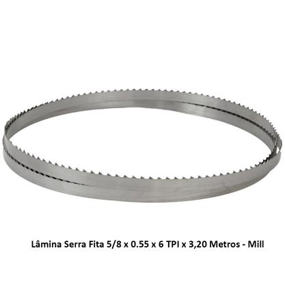 Lâmina Serra Fita 5/8 x 0.55 x 6 TPI x 3,20 Metros - Mill