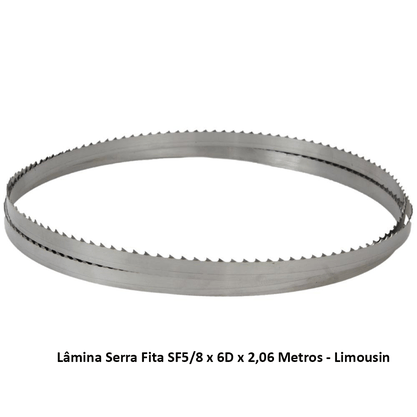 Lâmina Serra Fita SF5/8 x 6D x 2,06 Metros - Limousin