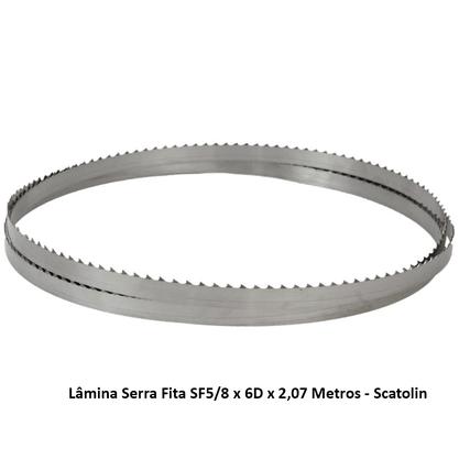 Lâmina Serra Fita SF5/8 x 6D x 2,07 Metros - Scatolin