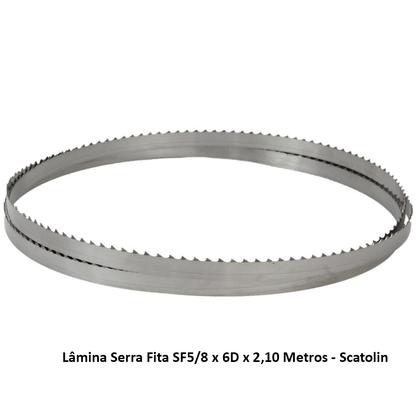 Lâmina Serra Fita SF5/8 x 6D x 2,10 Metros - Scatolin