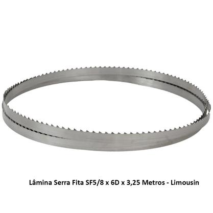 Lâmina Serra Fita SF5/8 x 6D x 3,25 Metros - Limousin
