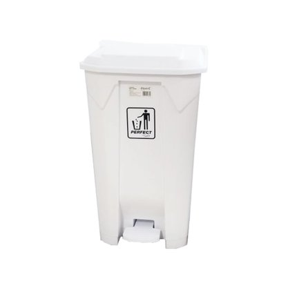 Lixeira C/ Pedal 100 Litros Resistente Branca - Perfect