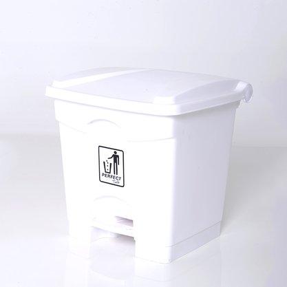 Lixeira C/ Pedal 35 Litros Resistente Branca - Perfect