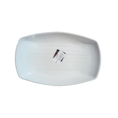 Travessa Oval Melamina Média Branca 23x14,5cm - Bellagio