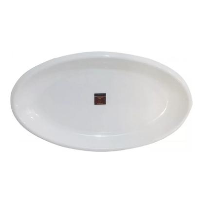 Travessa Oval Melamina Média Branca 48x33cm - Bellagio